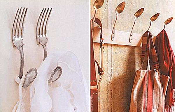 objetos decoracao jardim : objetos decoracao jardim:Uma cozinha diferente: os talheres servem como apoio de panos de prato