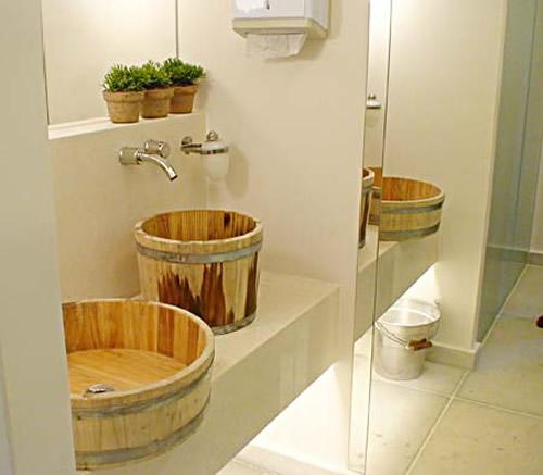 Barril na Decoração -> Decoracao De Banheiro Sustentavel