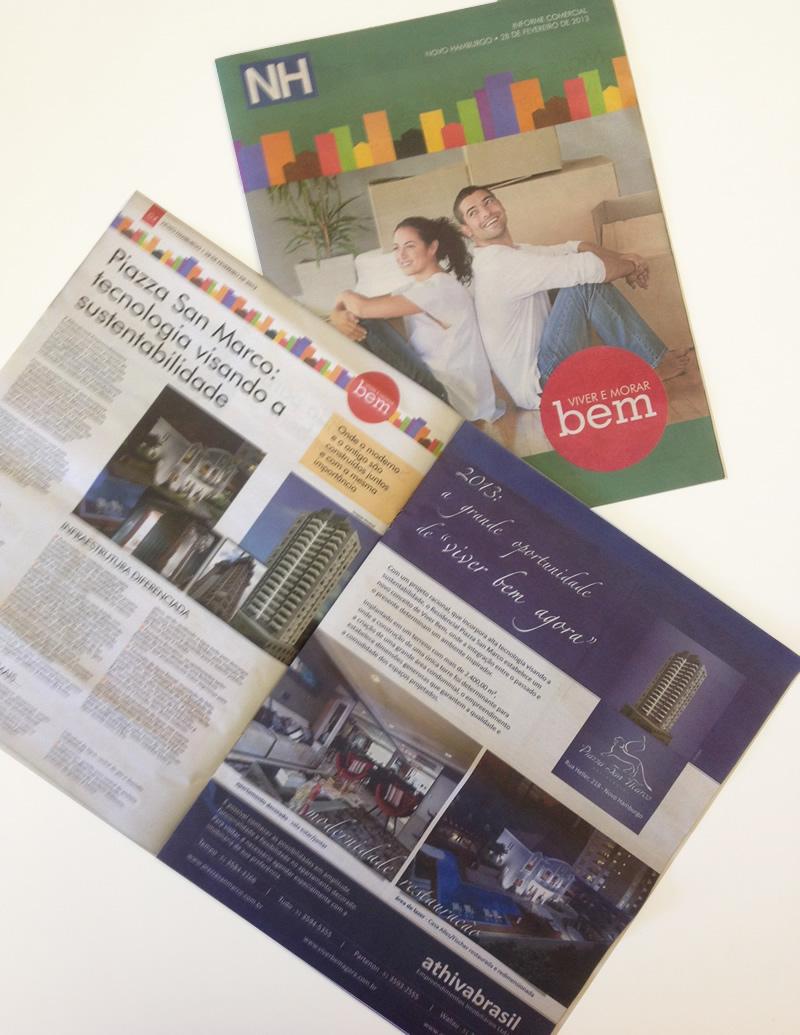 Piazza San Marco é destaque no caderno Viver e Morar Bem, do Jornal NH