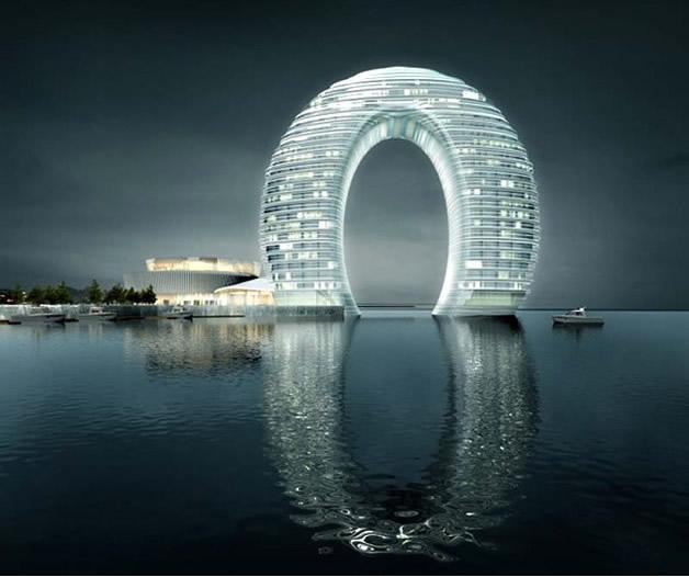 Arquitetura de resort chinês desafia a gravidade 2