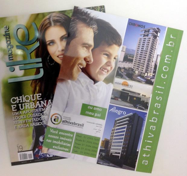 Empreendimentos Athivabrasil na revista e no jornal