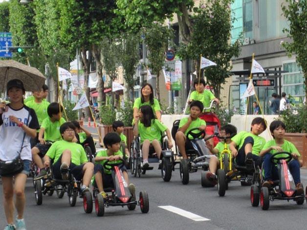 Carros durante um mês estão proibídos de circular no bairro em cidade da Coreia do Sul