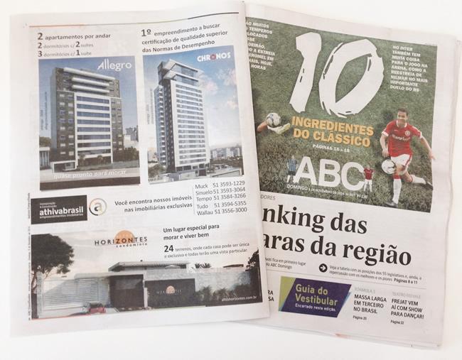 Anúncio ABC do Jornal NH