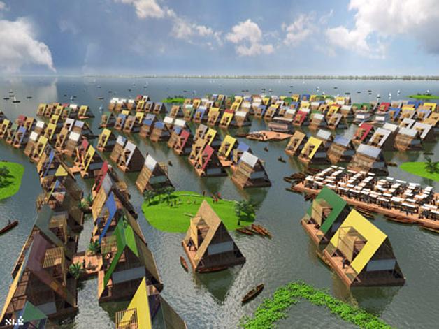 Arquiteto projeta escolas flutuantes em região com constantes inundações