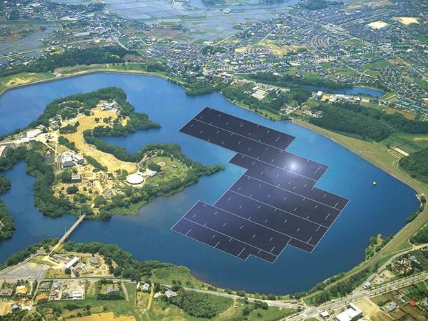 Japão começa a construir a maior usina flutuante de energia solar do mundo